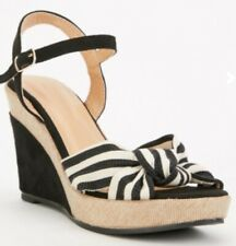 Wedge sandals black natural size 5 (38) brand new boxed