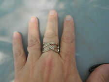 "Paparazzi StretchBand Ring (new) STAIRWAY TO HEAVEN (BROWN ""CRYSTALS""/SILVER"