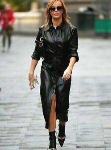Zara Faux Leather Shirt Dress Size S M L