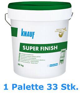 KNAUF Super Finish  20kg 1Palette - 33St. Gebrauchsfertige Allzweckspachtelmasse