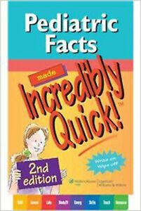 Pediatric Facts Made Incredibly Quick!, Very Good,  Book