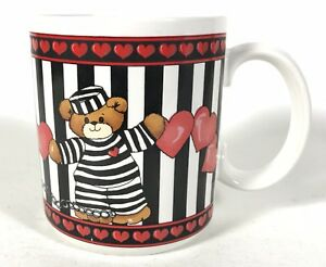 Enesco Lucy & Me Teddy Bear Mug Prisoners Of Love 1989 Vintage Collectable Cup
