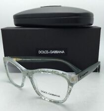 New DOLCE&GABBANA Rx-able Eyeglasses DG 3198 2855 52-18 Clear Frame w/Green Lace