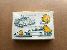 Vintage Green Bay Packers Souvenir Playing Cards Factory Sealed Deck HTF