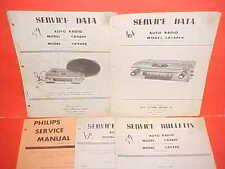 1959 FORD METEOR EDSEL PHILIPS AM RADIO SERVICE MANUAL 1960 1961 1963 RH DRIVE