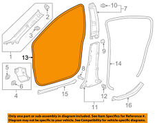 TOYOTA OEM 12-16 Prius C Interior-Weatherstrip Seal on Body Right 6231152210