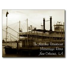"+""The Natchez Riverboat"" ...Mississippi River/New Orleans, LA.  ~Post Card~(B324"