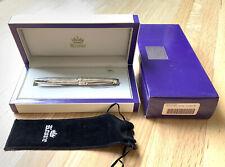 Krone Precious Metal Sterling Silver Fountain Pen 18k Gold Nib in Box