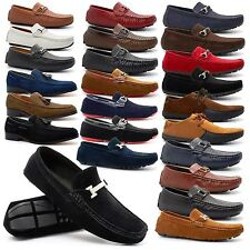 New Mens Casual Loafers Designer Tassel Slip On Shoes Boat Deck Driving UK 6-11