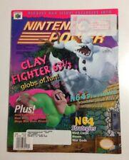 Nintendo Power Magazine Volume 97 With Starfox 64 Poster Clayfighter Cover