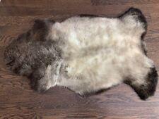 Genuine   Sheepskin rug   Pelt   Seat Cover   Brown natural color   Soft
