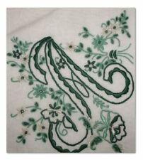 Monogrammed Vintage Madeira Handkerchief Letter A Gorgeous Dark Green