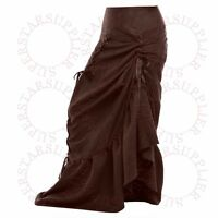 1pc Gothic Corset Skirt Victorian Steampunk Long Ruffle Fishtail Vintage Skirt