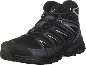 Salomon Men's X Ultra 3 MID GTX Hiking Shoes, Black/Ink/Monument, 9 D(M) US