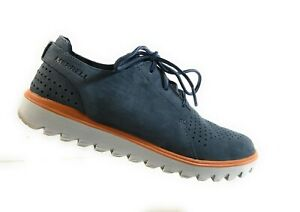Merrell Slate J93933 Men Blue Suede Lace Up Perforated Sport Athletic Shoes Sz 7