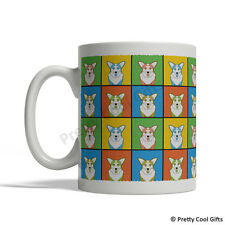 Cardigan Welsh Corgi Dog Mug - Cartoon Pop-Art Coffee Tea Cup 11oz Ceramic