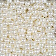 150 ml Dekoperlen Bastelperlen Wachsperlen mit Loch perlmutt Hochzeit Deko 10 mm