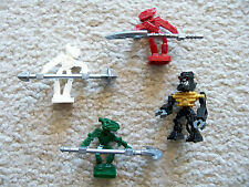 LEGO Bionicle - Rare - 4 Bionicle Minifigs & Weapons - Excellent