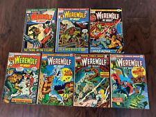 Marvel Comics- Werewolf By Night LOT of 7, includes Spotlight #3, 1972 Darkhold