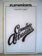 COMING ATTRACTIONS Playbill CHRISTINE BARANSKI / JONATHAN HADARY NYC 1980