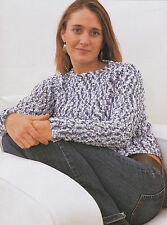 Crochet Pattern ~ LADIES SIMPLE TEXTURED SWEATER Top ~ Instructions