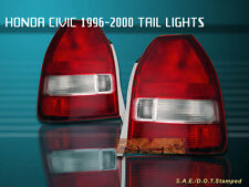 Fit For 96-00 HONDA CIVIC TAIL LIGHTS RED CLEAR 3DOOR HATCHBACK