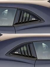 10-15 Camaro GTS Smoke Acrylic Quarter 1/4 Window Louvers Covers Pair GT4172S
