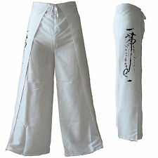 NEW Comfortable Rayon Wrap Around Pants Trousers Hippy Hippie Festival - White