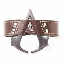 ASSASSIN'S CREED 3 4 BLACK FLAG BRACCIALE IN PELLE WRISTBAND CREST CONNOR KENWAY