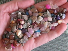 NEW 1/4 LB ASSORTED VARIETY OF MINIATURE TINY VERY SMALL GEMSTONES & CRYSTALS