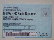 Ticket MYPA MYLLYAKOSKI - RAPID BUCHAREST 2012/13 Europa League Finland Romania