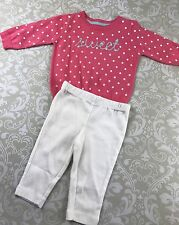 NWT Baby Girl 3 Mo Sweater Pants Outfit Set Carter's Pink Polka Dot Sweet