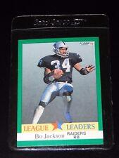1991 FLEER FOOTBALL LEAGUE LEADERS BO JACKSON CARD #416 (Mint)