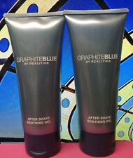 Lot of 2 Realities Graphite Blue for Men After Shave Soothing Gel 3.4oz  Each