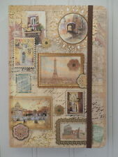 Punch Studio ~ Tuscan European Elegance Travel Maps ~ Journal w/Bungee 97176