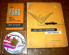 1958 58 Ford Thunderbird Service & Specs and Parts Shop Manuals 3 Volumes!