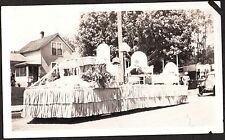 1924 APPLE BLOSSOM FESTIVAL PARADE FLOAT COCA COLA WENATCHEE WASHINGTON PHOTO