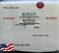 Premium Japanese Organic Cotton {50 PADS} Unbleached 100% Natural