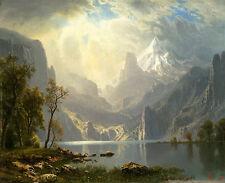 In the Sierras - Lake Tahoe 75cm x 61cm by Albert Bierstadt Canvas Print