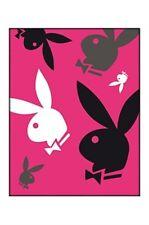plaid polaire PLAYBOY rose imprimé 110 x 140 cm - neuf