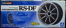 Felgen Advan Racing RS-DF 19 Zoll inkl. Reifen, 1:24, Aoshima 009017
