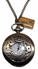 """ALICE In The WONDERLAND Drink Me Charm Pendant Watch on 30"""" Chain"""