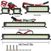 For SCX10 D90 TRX4 1/10 RC Climbing Car Spotlight Dual-Row Roof Lamp Light Set