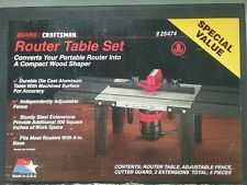 """Router Table CRAFTSMAN 925474 NEW Set Fits Most 6"""" Routers In BOX"""