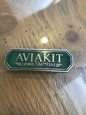 Rare VINTAGE  New Old Stock BADGE lewis Leathers aviakit