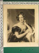 1831 ANTIQUE PRINT ~ GEORGIAN LADY PORTRAIT ~ SAMUEL COUSINS THOMAS LAWRENCE