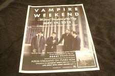 "Vampire Weekend 2013 ad for hit ""Modern Vampires of the City"" with Ezra Koenig"