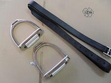 Steigbügel,komplett mit Steigbügelriemen aus weichem Leder, für Erwachsene