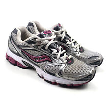 Saucony 15190-1 Women's Grid Stratos 5 Gray Pink Lace Up Athletic Shoes Size 9.5