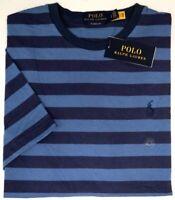 Polo Ralph Lauren Short Sleeve T Shirt Mens Blue Stripe Tee Classic NEW $49
